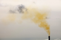polluted;pollution;emissions;smoke;yellow;sky;air;air-quality;climate-change;global-warming;industry;gas;power-station;Barrow-in-Furness;Cumbria;UK