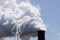 coal;fossil-fuel;emissions;C02;carbon-emissions;dirty;industry;heavy-industry;Bluescope;steel;steel-works;Kembla;Port-Kembla;Wollongong;New-South-Wales;Australia;smoke;smoke-stack;chimney;pollution;polluted;air-quality;air-quality;heavy-industry;industry;industrial;greenhouse-gas;climate-change;global-warming;wind;wind-power;wind-turbine;turbine;vertical-axis;vertical-axis-wind-turbine;renewable-energy