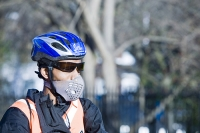 London;UK;enviroment;climate-change;global-warming;science;protest;protestor;protesting;march;action;direct-action;publicity;cause;highlight;publicity;poster;banner;bike;cyclist;bicycle;flag;point-of-view;climate-criminal;carbon-footprint;C02;carbon-dioxide;carbon-emmisions;organisation;movement;change;pressure;affirmitive-action;rally;green;environmental-movement;axle;evil;play-on-words;smog;smoke-mask;face-mask;air-pollution;exhaust-fumes;black;afro-caribean;man;breathing;air-pollution