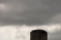 Clitheroe;Lancashire;UK;tip;landfill;rubbish-tip;methane;methane-capture;greenhouse-gas;global-warming;climate-change;atmosphere;energy;chimney;heat;burn;burning;haze;heat-haze