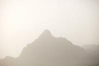 China;peak;mountain;summit;haze;hazy;air-pollution;Inner-Mongolia;steep
