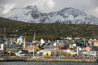 Ushuaia;Tierra-del-Fuego;Argentina;Patagonia;South-America;Austral;town;South;southerly;red;tourism;Isla-Grande-de-Tierra-del-Fuego;Beagle-Channel;Martial-Mountain-Range;travel;mountain;hill;peak;snow;snow-capped;glacier;sky;rock;rugged;mountain-range;ship;boat;docks;dock;wharf;port;yacht;sailing-boat;mast;sailing;mooring;rocky;rock;ridge;rugged;snow;snow-capped