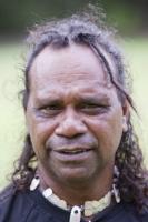 man;male;aboriginal;aborigini;indigenous;Australian;first-nation;paint;make-up;traditional;dress;ethnic;ethnicity;culture;proud;Australia;tourism;dreamtime;song-lines;Tjapukai;Tjapukai-Aboriginal-park;Cairns;Queensland;print;body-adornement;necklace