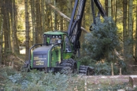 20130311_B18A3347.jpg A forwarder, a specialist machine for cutting timber in Grizedale Forest, Lake District, UK, that is destined to be used as biofuel in a biofuel power station.