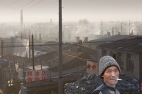China;chinese;energy;power;electricity;power;power-station;coal;coal-fired;coal-fired-power-station;fossil-fuel;dirty;pollution;polluting;greenhouse-gas;emmissions;C02;carbon-dioxide;carbon-foorprint;global-warming;climate-change;power-plant;chimney;smoke-stack;electricity-genertation;power-consumption;industry;industrial;air-quality;air-pollution;smoke;sky;smog;Suihua;Heilongjiang;haze;slum;shanty-town;slum-dwellings;housing;poor;poverty;street;road;roof-tops;roof-line;man;chinese;smoking;cigarette;cancer;unhealthy;face;smile;happy;habit;addict;addicted;nicotine