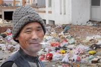 China;chinese;rubbish;litter;plastic;environment;polluted;pollution;degraded;waste;Dongsheng;man;chinese;smoking;cigarette;cancer;unhealthy;face;smile;happy;habit;addict;addicted;nicotine