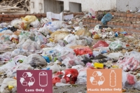 China;chinese;rubbish;litter;plastic;environment;polluted;pollution;degraded;waste;Dongsheng;irony;ironic;recycle;recycling