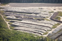tar-sand;tar-sands;oil-sand;oil-sands;oil-industry;fossil-fuel;climate-change;global-warming;industry;heavy-industry;industrial;Athabasca;Alberta;Canada;destruction;strip-mining;Fort-McMurray;environment;environmental-destruction;carbon-footprint;Boreal-Forest;oil;bitumen;deposits;oil-reserves;mine;mining;carbon-footprint;tree;woodland;chop-down;clear-fell;deforestation;clear;strip-mining;destruction;carbon-sink;timber;log;log-pile;lumber;aerial;aerial-photograph