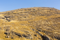 Lesvos;Lesbos;Greece;island;Aegean;dry;barren;drought;summer;vegetation;thorny;prickly;dried-up;hill;vegetation-type;habitat;sparce;hillside;west;rock;rocky