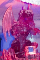 ice;ice-sculpture;sculpture;art;art-work;skil;lighting;colourful;Dubai;Ski-Dubai;freezing;energy;energy-use;carbon-footprint;Emirates;climate-change;Global-warming;dragon;wings;creature;mythical;waste;resources;tourist-attraction