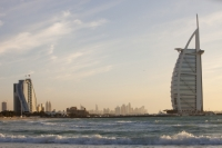 Dubai;Middle-East;arabic;high-rise;tower-block;development;luxury;wealthy;expensive;architecture;design;Emirates;sea;beach;Persian-Gulf;surf;UAE;iconic;design;dhow;Burj-al-Arab;exclusive