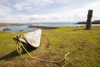 Eigg;island;Scotland;UK;Eigg-Heritage-Trust;community;highland;coast;Galmisdale;boat;canoe;dug-out-canoe;log;wood;ancient;old;rope