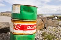 Eigg;island;Scotland;UK;Eigg-Heritage-Trust;community;energy;power;climate-change;global-warming;carbon-footprint;oil;barrel;oil-barrel;castrol