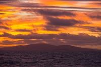 Argentina;South-America;Austral;coast;island;island-chain-Falkland;Falklands;Falkland-Islands;Malvinas;sky;cloud;orange;glow;dawn;sunrise;South-Atlantic;ocean