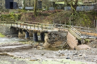 Floods;flooding;flooded;Cumbria;Lake-District;UK;weather;extreme-weather;climate-change;global-warming;deluge;torrential-rain;downpour;meteorology;low-pressure;weather-front;rain;raining;heavy-rain;precipitation;flood-waters;river;road;swept-away;undermined;flood-damage;road-closed;power;bridge;collapsed;destruction;farm;farm-house;St-Johns-in-the-Vale;Keswick;Storm-Desmond