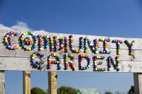 Cornish;Cornwall;UK;coast;Porthtowan;Mount-Pleasant-Ecological-Park;eco;green;sustainable;sustainability;low-impact;natural;materials;building;architecture;green-architecture;name;logo;community-garden;organic;organic-garden;plastic-bottle-tops;bottle-top;colour;colourful
