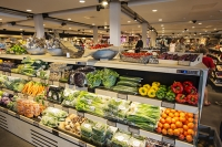 Gloucester-Service-Station;M5;motorway;UK;serives;green-roof;travel;rest-stop;travel;eco;eco-build;green-build;food-miles;local;local-food;carbon-footprint;architecture;shop;food;food-shop;farm-shop;man;male;vegetables