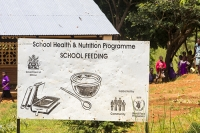 sign;school-feeding-program;UN;World-Food-Program;children;poor;Malawi;Africa;poverty;education;food-supply;food-security;aid;aid-program;poverty;Zomba-Plateau