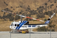 USA;US;America;California;desert;Tehachapi-Pass;brown;drought;dessicated;dried-up;climate-change;global-warming;tree;branch;dead;dying;killed;hill;farmland;parched;Kern-county;Fire-Department;wildfire;helicopter;rotor-blade