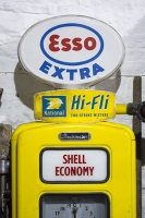Esso;shell;old;petrol-pump;antique;yellow;fossil-fuel;two-stroke