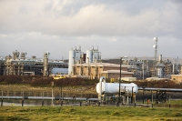Barrow-in-Furness;Cumbria;UK;infrastructure;gas;gas-plant;fossil-fuel;industry;power;morecambe-Bay-gas;flare;flame;waste;flaring-off;steel;plant;pipe;grid