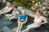 Nepal;Asia;girl;Himalayas;woman;man;male;pool;bathe;bathing;geothermal;hot;hot-water;geothermal-power;spring;thermal-spring;naked;bare;trekkers;relax;relaxing;clean