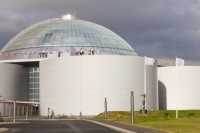 town;city;Iceland;Reykjavik;architecture;structure;building;design;Perlan;pearl;water;water-tank;holding-tank;geothermal;geothermal-water;climate-change;global-warming;carbon-footprint;carbon-neutral;carbon-free;clean;hot-water;heating;municipal;dome;glass;viewpoint;viewing-platform;renewable-energy
