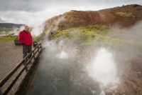 Iceland;Reykjavik;geothermal;vulcanicty;geology;plate-tectonics;tectonic;hot;earth;ground;mineral;minerals;lava;lava-field;steam;steaming;colour;earth;hot-spring;hot-springs;mud;boiling;bubbling;water;spring;hot-water;Deildartunguhver;Kleppjarnsreykir