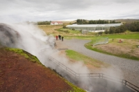 Iceland;Reykjavik;geothermal;vulcanicty;geology;plate-tectonics;tectonic;hot;earth;ground;mineral;minerals;lava;lava-field;steam;steaming;colour;earth;hot-spring;hot-springs;mud;boiling;bubbling;water;spring;hot-water;Deildartunguhver;Kleppjarnsreykir;greenhouse;renewable-energy;crop;tomatoes
