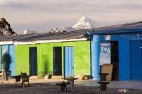 South-America;Bolivia;La-Paz;indigenous;ethnic;ethnicity;Indian;people;Huayna-Potosi;El-Alto;mountain;altitude;high;snow;glacier;backdrop;glacial-retreat;climate-change;global-warming;mountain-range;Cordillera-Real;Altiplano