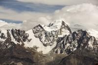 South-America;Bolivia;La-Paz;Huayna-Potosi;El-Alto;mountain;altitude;high;snow;glacier;backdrop;glacial-retreat;climate-change;global-warming;mountain-range;Cordillera-Real;Altiplano;glaciated;snowpack;melting;water-supply