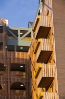 IMG_4446_balcony.jpg Riverside One is a new concept in greenbuild. It adheres to the ten principles of One Planet living, Built by BioRegional Quintain in Middlesbrough, Teeside, UK. It is an exceptinal green building, whose individual housing units will have a low carbon footprint. The whole block is heated by a biofuel boiler. During construction it used recycled oil rig pipes for piling, the concrete was mixed with recycled agregate, super insulated with earth wool, it uses grey recycled water to save water, locally sourced timber, the electricity for the building is sourced from renewable sources and the buidling incorporates Swift bird boxs and bat boxs. Residents are encouraged to car share and use local organic vegetable box schemes.