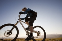 IMG_4831_silhouette.jpg Mountain bikers on the Helvellyn Range in the Lake District, UK.