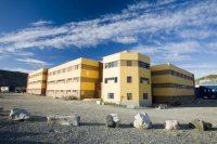 Greenland;Kangelussuaq;building;construction;yellow;architecture;flat;flats;apartments;apartment-block;accomodation;house;housing;arctic