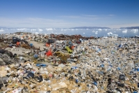 climate-change;global-warming;polluted;pollution;cantaminated;contamination;waste;abandoned;tip;tipping;refuse;trash;garbage;Greenland;Arctic;Illulissat;rubbish;rubbish-dump;garbage-dump;contrast;Unesco-world-heritage-site;landscape;iceberg;coast;sea;arctic-ocean;summer;Illulissat-ice-fjord;sermeq-kujalleq;waste;abuse;landfill;refuse;environment;environmental