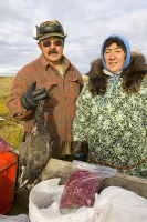 Eskimo-Inuit-Shishmaref-alaska-Arctic-native-global-warming-clim;man;woman;clothing;traditional;hunting;hunter-gatherer