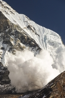 Himalaya;Himalayas;Nepal;Annapurna;peak;mountain;mountains;summit;FishTail;Machapuchare;sacred;winter;avalanche;avalanching;danger;gravity;ice;ice-cloud;snow;weather;avalanche-risk;glacier;glacial;glacial-retreat;climate-change;global-warming;Annapurna-Sanctuary;rock;cliff;steep;ravine;gully;cliff-face;Shiva;religion;holy;engulf;nature;power;powerful