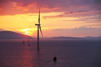 Barrow-in-Furness;Cumbria;UK;coast;renewable-energy;renewable;wind-power;wind-turbine;wind-farm;offshore;offshore-wind-farm;Walney;Walney-Offshore-Wind-Farm;color;colorful;carbon-neutral;green;environment;industry;heavy-industry;construction;construction-industry;green-job;green-employment;steel;green-investment;jack-up-barge;off-shore;dawn;sun;sunrise;glow;color;colourful