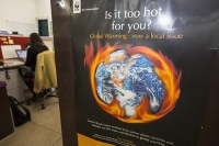 India;Asia;climate-change;global-warming;book;report;science;scientist;desk;worker;woman;female;WWF;poster;flame;hot;heat;earth