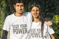 India;Asia;climate-change;global-warming;worker;woman;female;WWF;man;male;T-shirt;campaign;Seize-Your-Power;renewable-energy;happy;smile;young;workforce;charity;charity-worker;NGO;Panda;logo;couple;happy;smile;embrace
