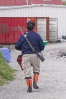 Ilulissat;Greenland;arctic;quay;harbour;Inuit;eskimo;hunter-hunting;sustainability;quota;tradition;traditional;gun;rifle;weapon