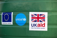 Malawi;Africa;Chiteskesa;refugee-camp;flood;floods;flooding;displaced;charity;NGO;aid;UK;UK-aid;assistence;Unicef;European-Union;plastic;water;water-supply;water-tank