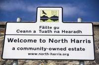 Isle-of-Harris;North-Harris;North-Harris-Trust;community;buyout;landlord;Outer-Hebrides;hebrides;Scotland;UK;Croft;crofting;environment;estate;community-owned;Gaelic;language;sign;conservation;Eagle