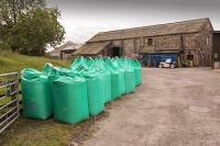 Clitheroe;Lancashire;UK;farm;farming;agriculture;sack;chemical;fertilizer