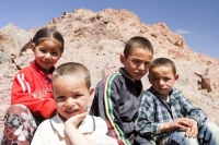 20120409_IMG_4465.jpg Moroccan Berber children in the Jebel Sirwa region of the Anti Atlas mountains of Morocco, North Africa.