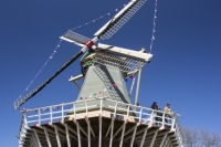 Keukenhof;Lisse;Holland;Netherlands;Spring;famous;garden;world-famous;Spring-garden;tourism;tourist-attraction;visitor;Dutch;icon;iconic;windmill;wind-power;sail;renewable;renewable-energy;touirsm;tourist-attraction