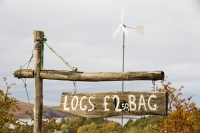 Scoraig;Little-Loch-Broom;Scotland;Highlands;remote;highlands;moorland;peninsular;community;green;off-grid;power;electricity;green;carbon-neutral;Coft;corfting;renewable-energy;wind-turbine;self-sufficiency;home-made;DIY;resilience;self-supporting;blade;basic;wire;support;pole;blade;log;logs-biofuel;for-sale