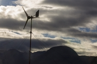 Scoraig;Little-Loch-Broom;Scotland;Highlands;remote;highlands;moorland;peninsular;community;green;off-grid;power;electricity;green;carbon-neutral;Coft;corfting;renewable-energy;wind-turbine;self-sufficiency;home-made;DIY;resilience;self-supporting;blade;basic;wire;support;pole;blade;croft;crofting;woodland;shelter
