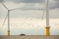 Gunfleet-Sands;Gunfleet-Sands-offshore-wind-farm;offshore-wind-farm;wind-farm;Essex;UK;Brightlingsea;renewable;renewable-energy;green;clean;carbon-neutral;energy;electricity;wind-turbine;climate-change;global-warming;Dong-Energy;energy-sector;sea;North-Sea;offshore-support-vessel;boat