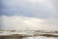 storm;stormy-weather;wind;windy;storm-Gertrude;extreme-weather;Walney;walney-Island;Cumbria;UK;beach;coast;Irish-sea;sea;waves;wave;foam;spume;climate-change;global-warming;west-coast;wind-power;renewable;renewable-energy;offshore-wind-farm;wind-turbine;Walney-Offshore-wind-farm;Ormonde-wind-Farm
